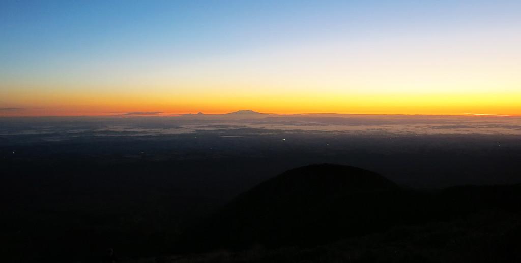 130KM Sichtweite bis zum Tongariro