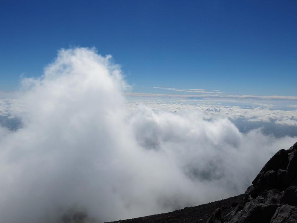 Ehe die Wolken kommen machen wir uns auf den Heimweg
